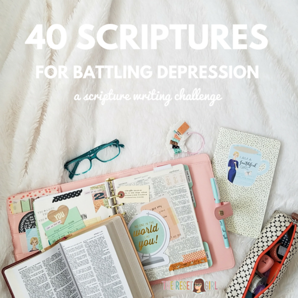 Depression: 40 Scriptures for the Battle