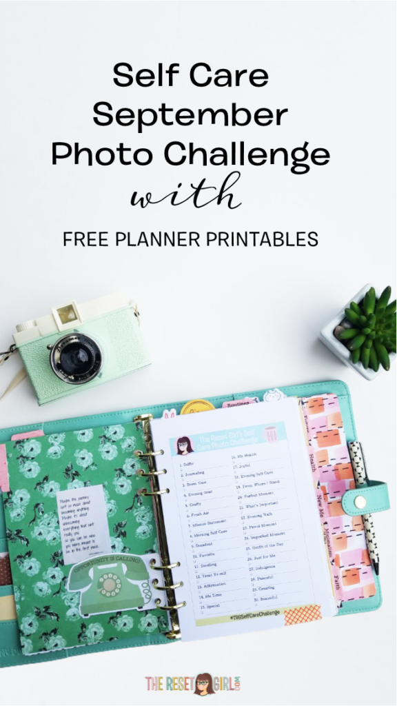 September Self Care Challenge and FREE Printables
