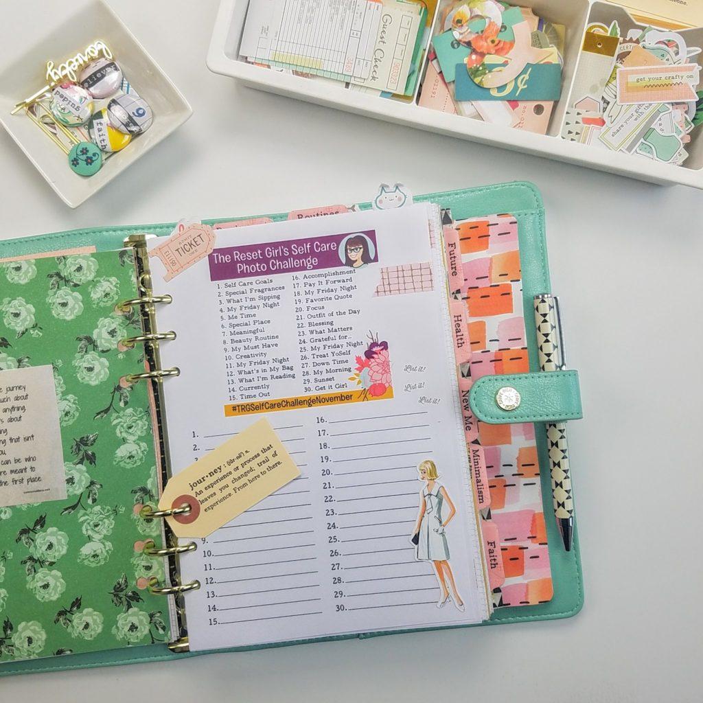 November Self Care Challenge and FREE Printables