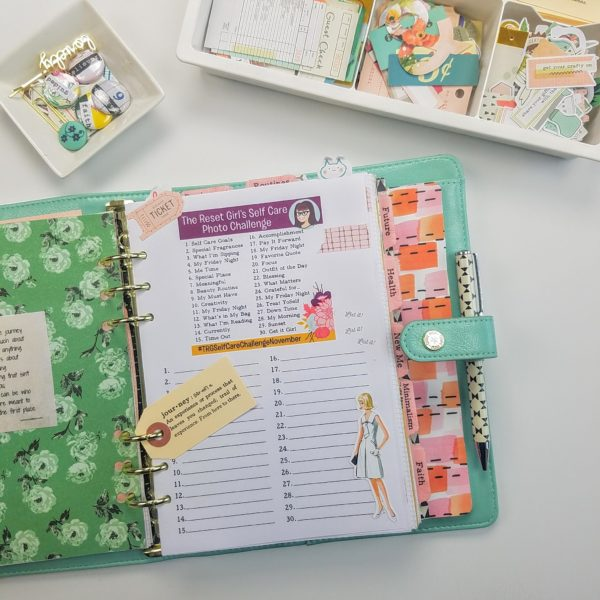 November Self Care Challenge and FREE Printables