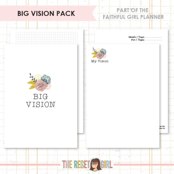 Inserts >> Faithful Girl Planner Color: Big Vision