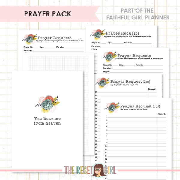Inserts >> Faithful Girl Planner Color: Prayer