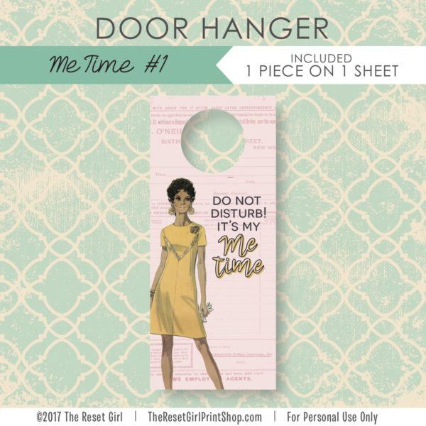 Extras >> Door Hanger: Me Time #1