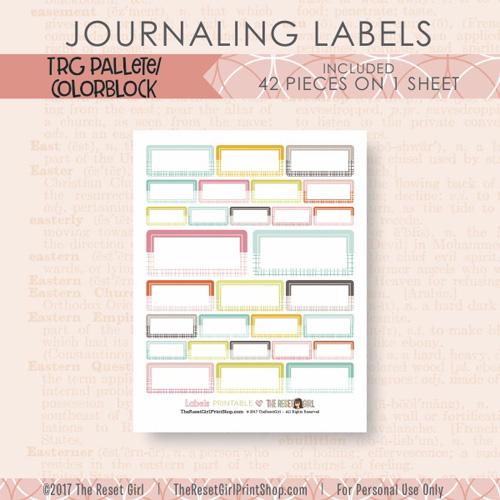 Embellishments >> Labels: TRG Colorblock