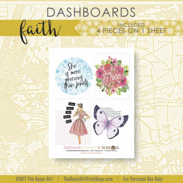 Extras >> Dashboards Faith Collection