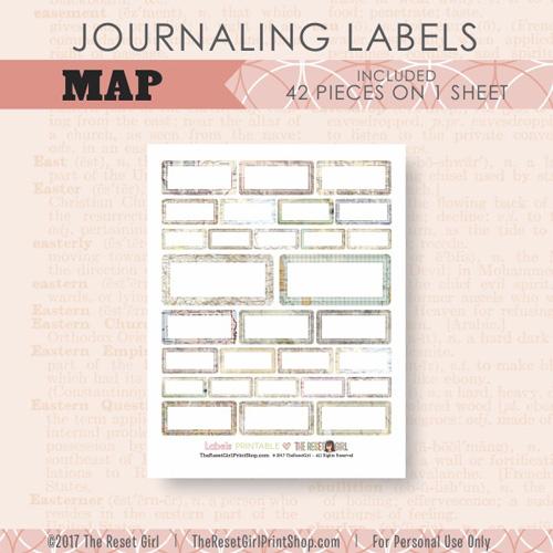 Embellishments >> Labels: Maps
