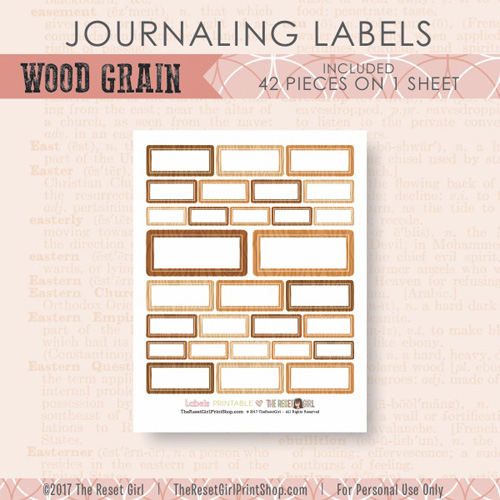 Embellishments >> Labels: Wood Grain Collection