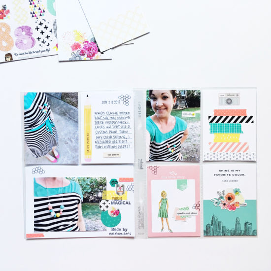 Pocket Page layout by @retrohipmama using the Shine Kit from The Reset Girl