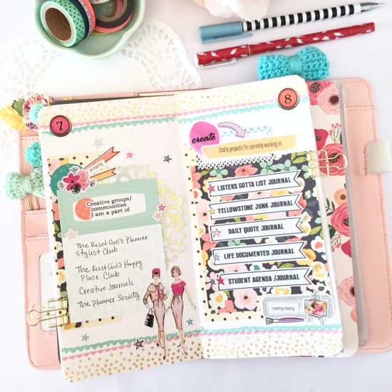 Pocket Page layout by @whitesugardesigns using the Shine Kit from The Reset Girl