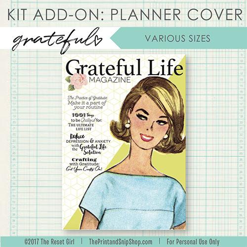 Grateful Planner Cover