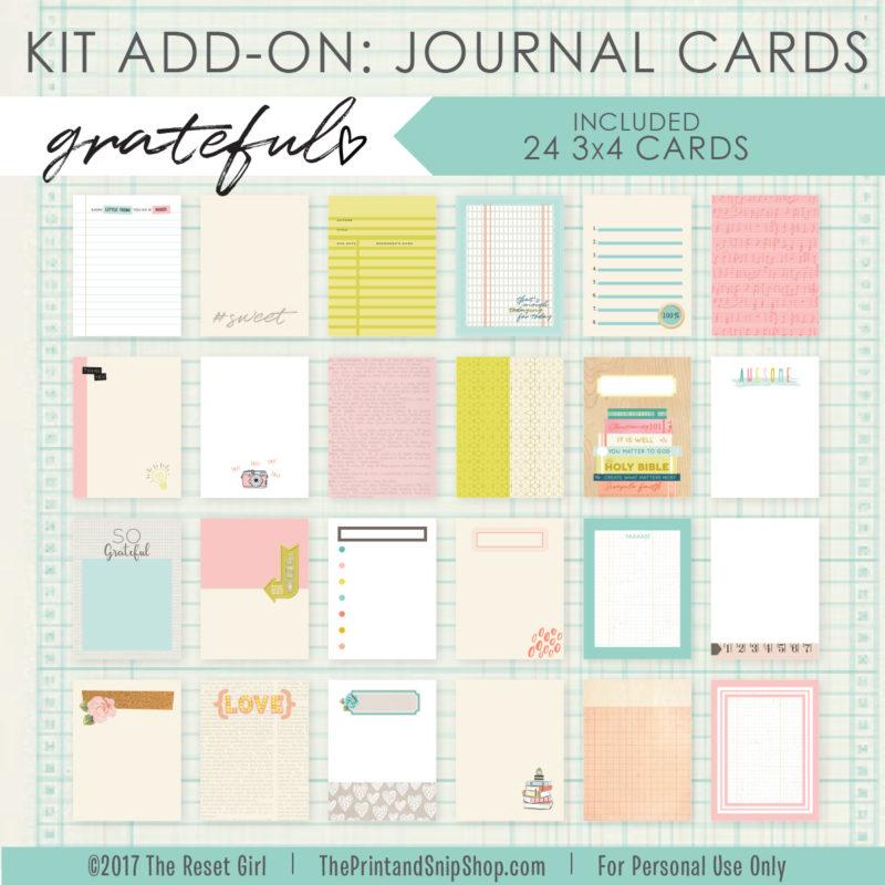 Grateful Add On Journal Cards