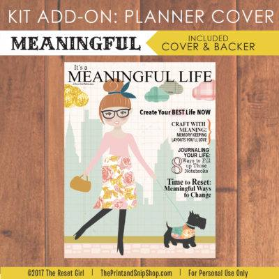 Meaningful Planner Cover