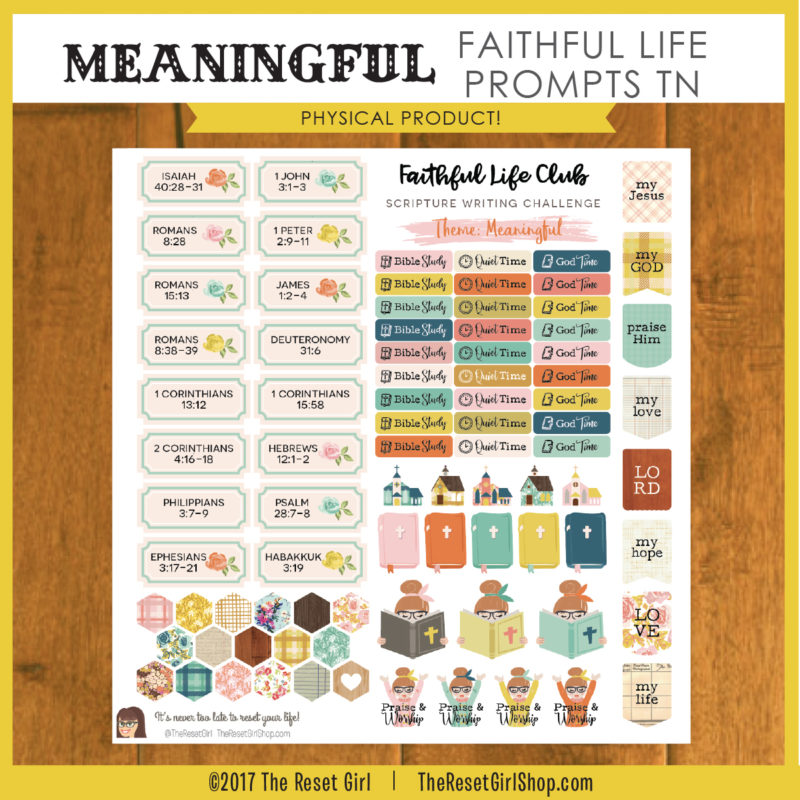 Meaningful Faithful Life Prompts