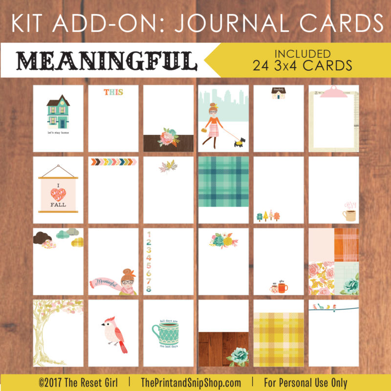 Meaningful Journal Cards