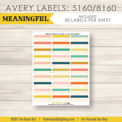 5160 avery labels