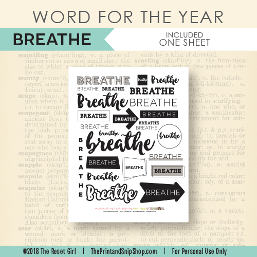 Word for the Year >> Breathe