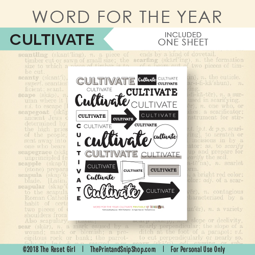 Word for the Year >> Cultivate