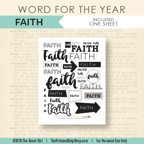 Word for the Year >> Faith