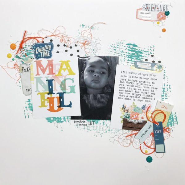 Meaningful Scrapbook Layout by Damaris