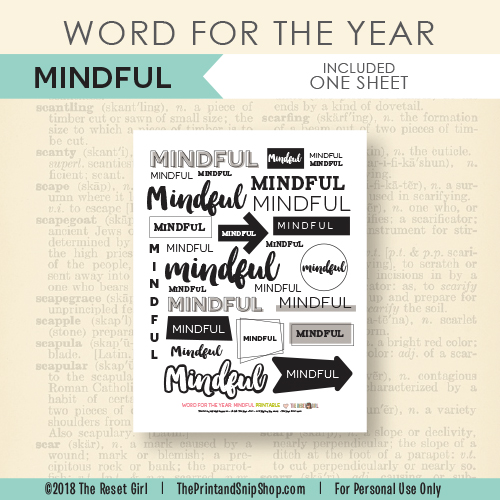 Word for the Year >> Mindful