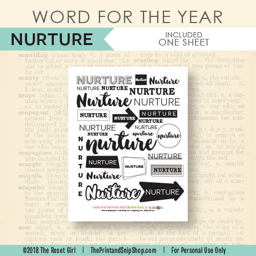 Word for the Year >> Nurture