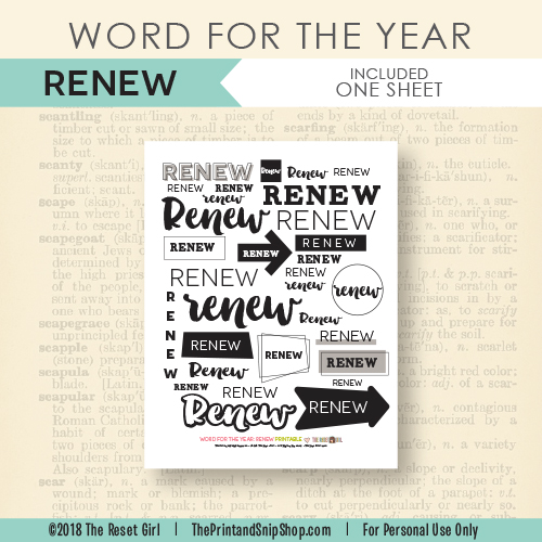 Word for the Year >> Renew