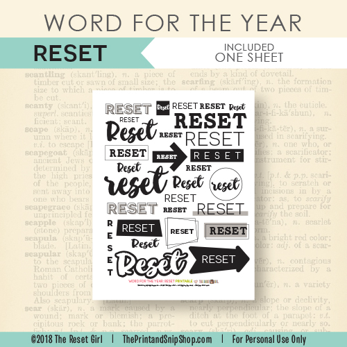 Word for the Year >> Reset