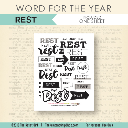 Word for the Year >> Rest