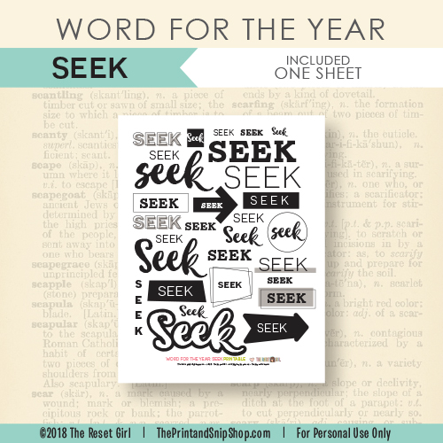Word for the Year >> Seek