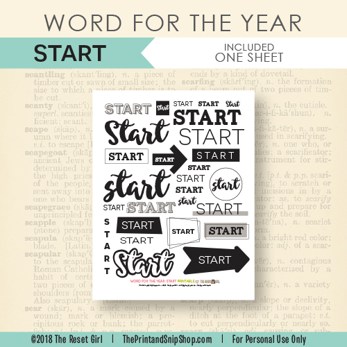 Word for the Year >> Start