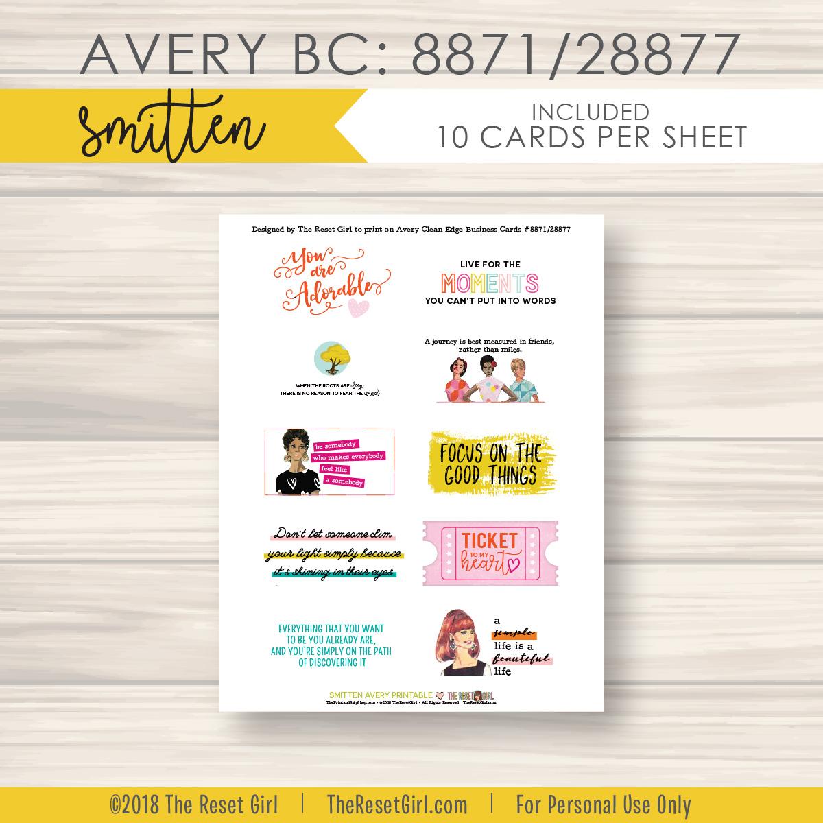Labels Smitten Avery Label 8871 Theresetgirl