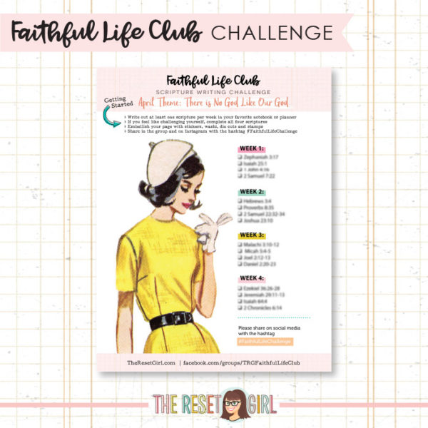 Prompts >> Faithful Life Challenge - April 2018