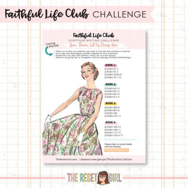 Prompts >> Faithful Life Challenge - June 2018