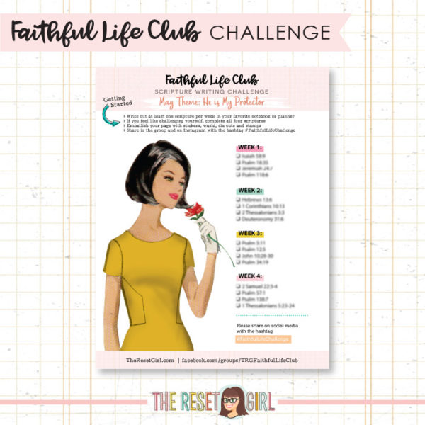 Prompts >> Faithful Life Challenge - May 2018