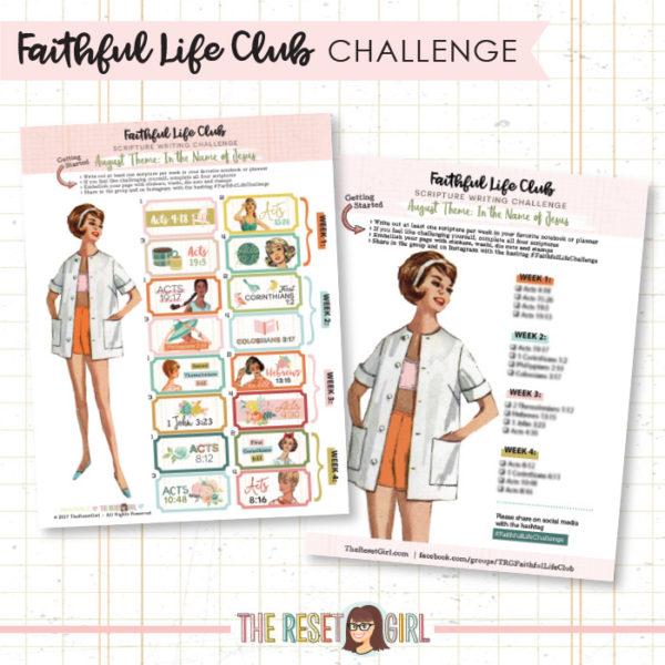 Prompts >> Faithful Life Challenge - August 2018
