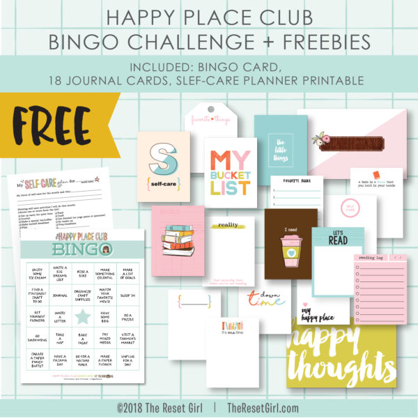 Happy Place Club Bingo Challenge + Freebies