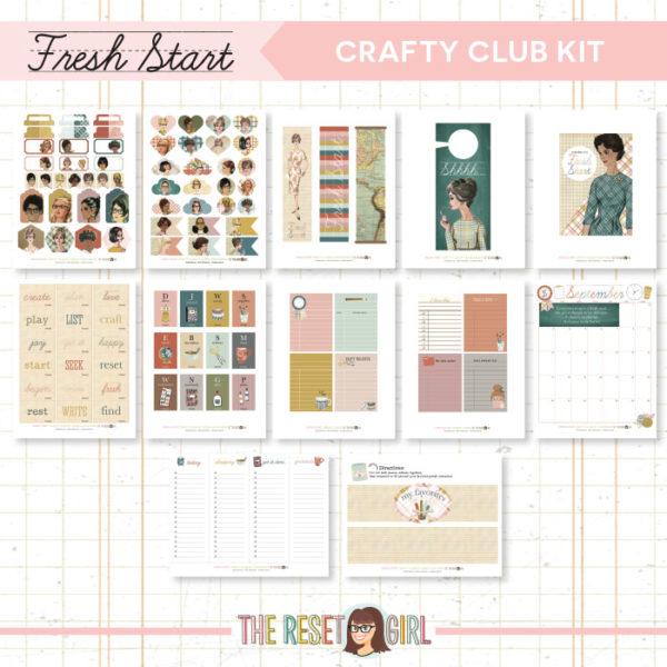 Crafty Club Kit >> Fresh Start Collection