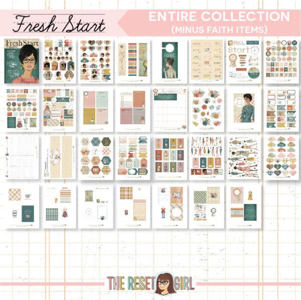 Fresh Start Printable Bundle (without the faith pieces)
