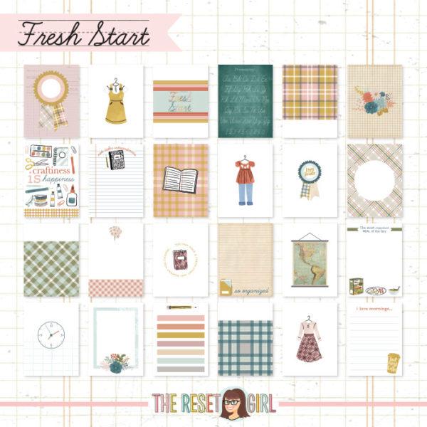 Journal Cards - Fresh Start Edition