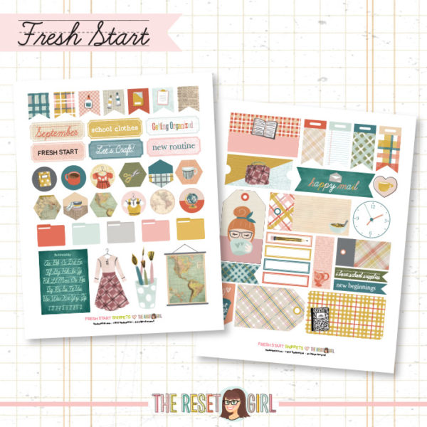 Snippets >> Fresh Start Collection