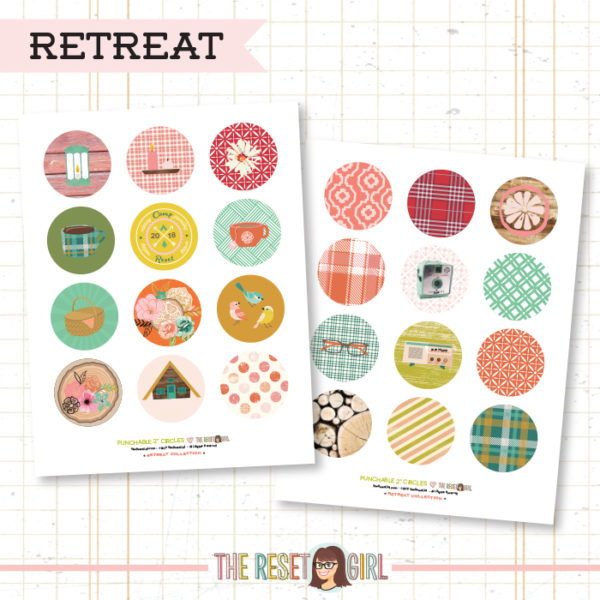 Paper Punch Buffet >> Two Inch Circles: Retreat Collection