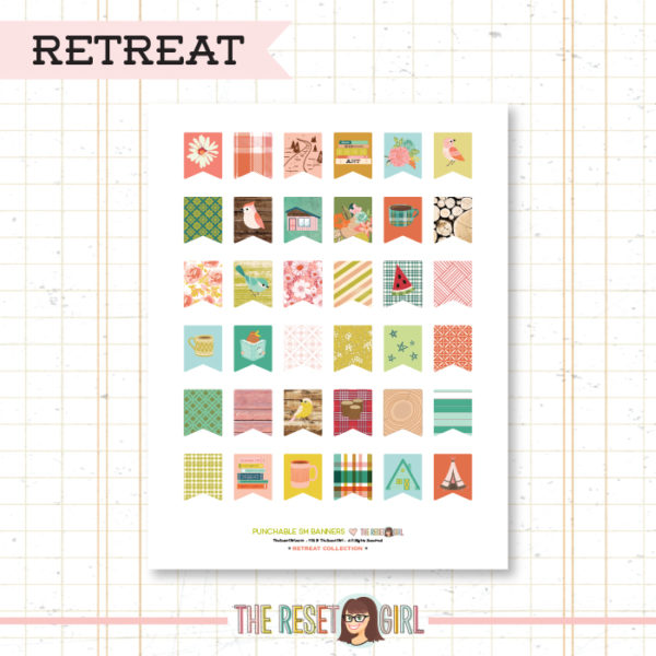 Paper Punch Buffet >> Small Banners: Retreat Collection