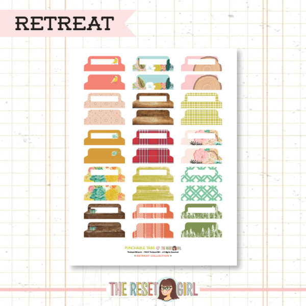 Paper Punch Buffet >> Tabs: Retreat Collection