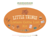 Listers Gotta List Kit >> The Little Things