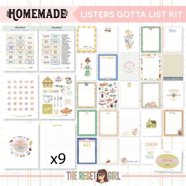 Listers Gotta List Kit >> Homemade
