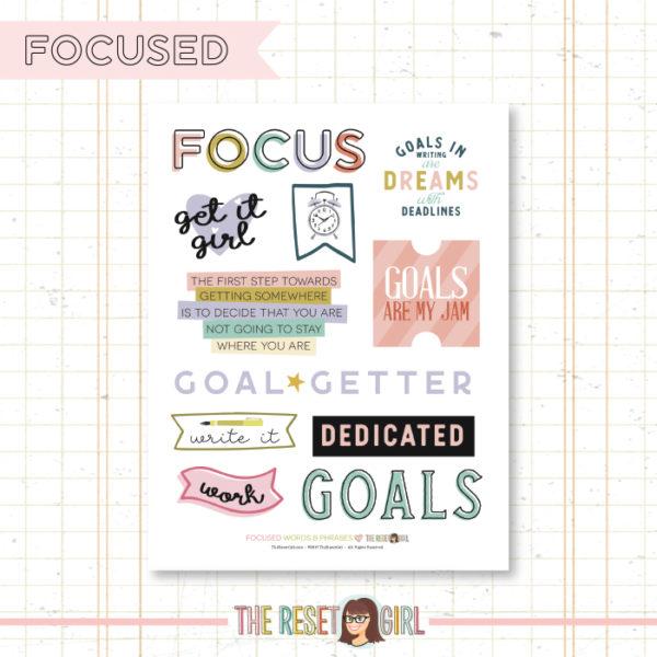 Words & Phrases >> Focused