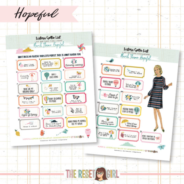 Prompts >> Listers Designer - Hopeful Edition March 2019