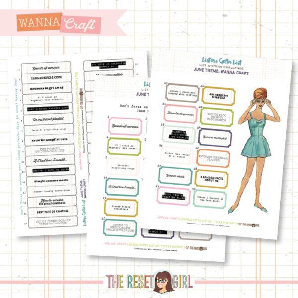 Prompts >> Listers Designer - June 2019 - Wanna Craft