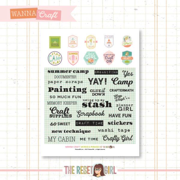 Words & Phrases >> Wanna Craft