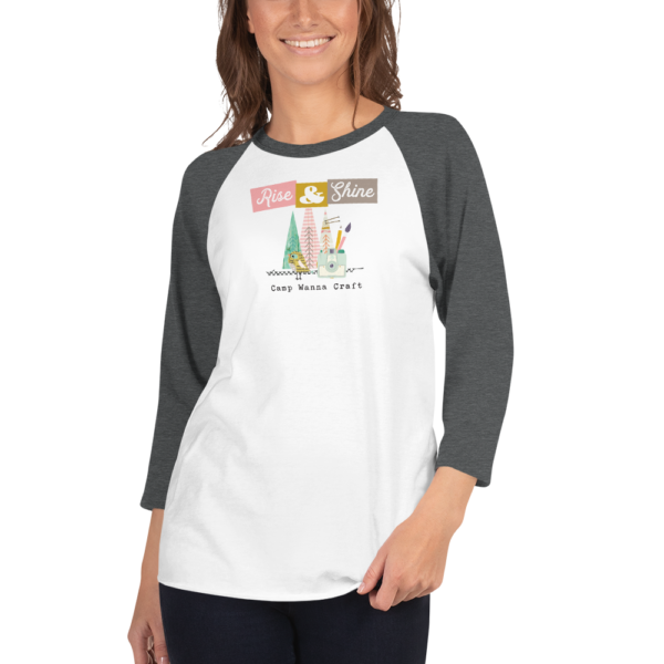Camp Wanna Craft - 3/4 sleeve raglan shirt